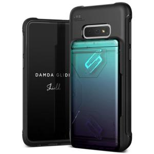 Protect your with the Damda Glide Solid Series Samsung Galaxy S10e case in green / purple from VRS Design. Made with tough yet slim material, this hardshell construction with soft core features patented sliding technology to store two credit cards or ID.