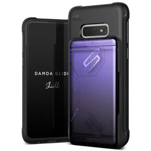 Protect your with the Damda Glide Solid Series Samsung Galaxy S10e case in purple / black from VRS Design. Made with tough yet slim material, this hardshell construction with soft core features patented sliding technology to store two credit cards or ID.