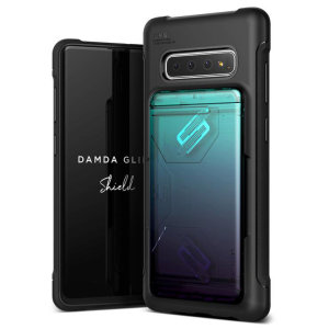 Protect your with the Damda Glide Solid Samsung Galaxy S10 Plus case in green / purple from VRS Design. Made with tough yet slim material, this hardshell construction with soft core features patented sliding technology to store two credit cards or ID.