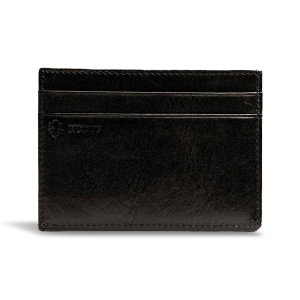 Get yourself a brand new stylish Compact 4 Card Holder for all your practical uses, store your cards in style. The sleek black finished wallet allows you to have a slim and practical wallet for cards, cash and coins.
