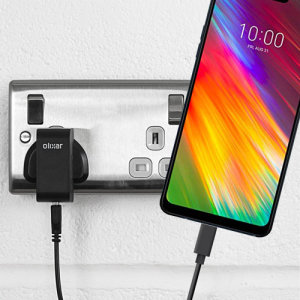 Charge your LG G7 Fit and any other USB device quickly and conveniently with this compatible 2.5A high power USB-C UK charging kit. Featuring a UK wall adapter and USB-C cable.