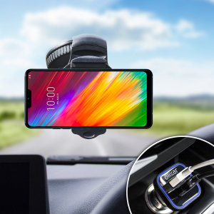 Hold your phone safely in your car with this fully adjustable DriveTime car holder for your  LG G7 Fit.