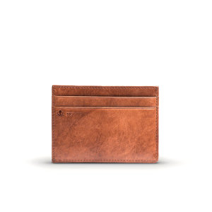Get yourself a brand new stylish Compact 4 Card Holder for all your practical uses, store your cards in style. The sleek Chestnut Brown finished wallet allows you to have a slim and practical wallet for cards, cash and coins.