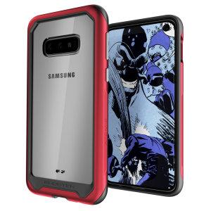 Statten Sie Ihr neues Samsung Galaxy S10e mit dem extremsten und langlebigsten Schutz aus! Der rote Ghostek Atomic bietet einen robusten Tropfen- und Kratzschutz und hält das Telefon schlank.