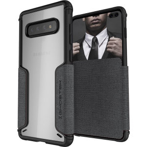 The Exec3 premium wallet case in grey provides your Samsung Galaxy S10 Plus with fantastic protection. Also featuring storage slots for your credit cards, ID and cash.