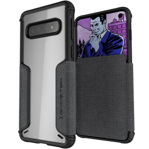 The Exec3 premium wallet case in grey provides your Samsung Galaxy S10 with fantastic protection. Also featuring storage slots for your credit cards, ID and cash.