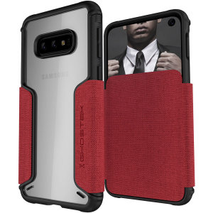 The Exec3 premium wallet case in red provides your Samsung Galaxy S10e with fantastic protection. Also featuring storage slots for your credit cards, ID and cash.
