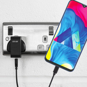 Charge your Samsung Galaxy M10 quickly and conveniently with this compatible 2.5A high power charging kit. Featuring mains adapter and USB cable.