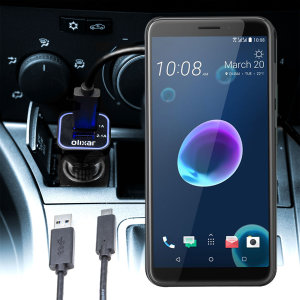 Keep your HTC Desire 12s fully charged on the road with this compatible Olixar high power dual USB 3.1A Car Charger with an included high quality USB to Micro-USB charging cable.