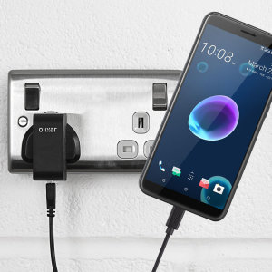 Charge your HTC Desire 12s quickly and conveniently with this compatible 2.5A high power charging kit. Featuring mains adapter and USB cable.