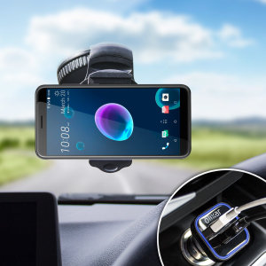 Essential items you need for your smartphone during a car journey all within the Olixar DriveTime In-Car Pack. Featuring a robust one-handed phone car mount and car charger with an additional USB port for your HTC Desire 12s.