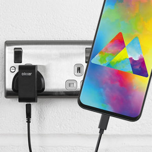 Charge your Samsung Galaxy M20 and any other USB device quickly and conveniently with this compatible 2.5A high power USB-C UK charging kit. Featuring a UK wall adapter and USB-C cable.
