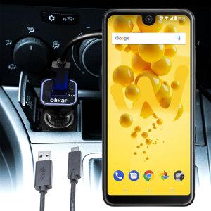 Mantieni il tuo Wiko View 2 completamente carico sulla strada con questo Caricabatterie da auto compatibile Olixar ad alta potenza doppio USB 3.1A con un cavo di ricarica da USB a Micro-USB di alta qualità incluso.