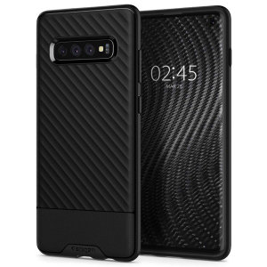 The Spigen Spigen Core Armor in black is a TPU lightweight protective case. Spigen's flexible and elastic material reduces the thickness of the case while providing shock absorption and a comfortable grip for your Samsung Galaxy S10 Case
