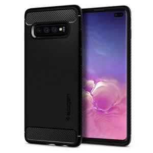 Meet the newly designed rugged armor case for the Samsung Galaxy S10 Plus. Made from flexible, rugged TPU and featuring a mechanical design, including a carbon fibre texture, the rugged armor tough case in black keeps your phone safe and slim.