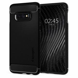 Möt det nydesignade skyddsskalet från Spigen. Tillverkad av flexibelt, robust TPU och med en mekanisk konstruktion, samt en kolfiber textur, håller Rugged Armor skalet i svart din för Samsung Galaxy S10e säker och smal.