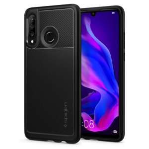 Meet the newly designed rugged armor case for the Huawei P30 Lite. Made from flexible, rugged TPU and featuring a mechanical design, including a carbon fibre texture, the rugged armor tough case in black keeps your shiny new phone safe and slim.