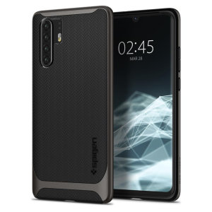 The Spigen Neo Hybrid in gunmetal grey is the new leader in lightweight protective cases. The new Air Cushion Technology corners reduce the thickness of the case while providing optimal protection for your Huawei P30 Pro.