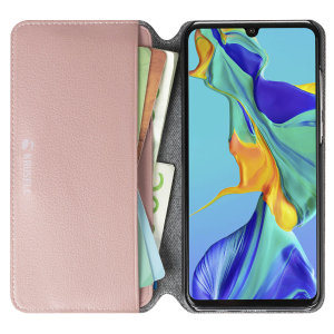 Krusell's Pixbo 4 Card Slim Wallet vegan leather case in pink combines Nordic chic with Krusell's values of sustainable manufacturing for the socially-aware Huawei P30 Lite owner who seeks 360° protection with extra storage for cash and cards.