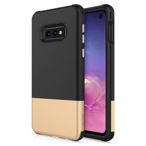 The sleek division series for the Samsung Galaxy S10e. The black and gold finish gives you protection for your phone in style. This case is made for pure luxury and style.