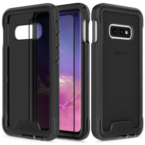 The Protective Ion series for the Samsung Galaxy S10e. The black finish gives you protection for your phone in style. This case is made for pure luxury and style.