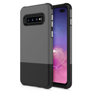 The sleek division series for the Samsung Galaxy S10 Plus. The black and grey finish gives you protection for your phone in style. This case is made for pure luxury and style.