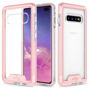 The Protective Ion series for the Samsung Galaxy S10 Plus. The Rose gold finish gives you protection for your phone in style. This case is made for pure luxury and style.