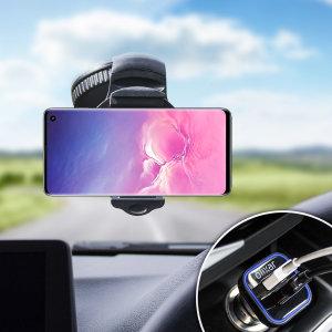 Houd je telefoon veilig in je auto met deze volledig verstelbare DriveTime-autohouder voor je Samsung Galaxy S10.