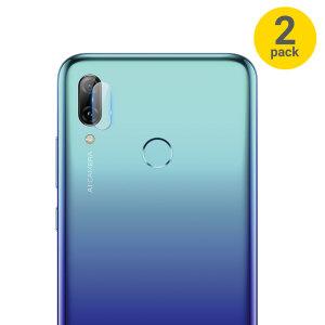Dit 2-pack ultradun geharde glazen achtercamera beschermers voor de Huawei P Smart 2019 van Olixar biedt taaiheid en superieure helderheid voor uw fotografie in één pakket.