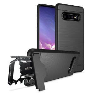 Prepare your Samsung Galaxy S10 for the great outdoors with the rugged X-Ranger case. With a handy kickstand and a secure compartment for the included multi-tool - or the card of your choice - you'll be ready for anything.