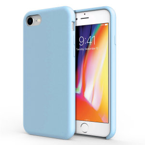 Olixar iPhone 8 / 7 Soft Silicone Case - Pastel Blue
