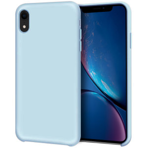 Custom moulded for the iPhone XR, this pastel blue soft silicone case from Olixar provides excellent protection against damage as well as a slimline fit for added convenience.