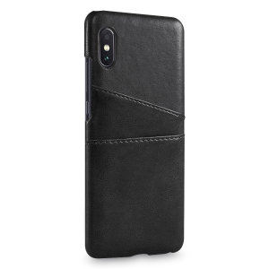 Designed for the Xiaomi Mi 8 Pro, this black executive leather-style case from Olixar provides a perfect fit and durable protection against scratches, knocks and drops with the added convenience of 2 RFID protected credit card-sized slots.