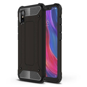 Protect your Xiaomi Mi 8 Pro from bumps and scrapes with this black Delta Armour case from Olixar. Comprised of an inner TPU section and an outer impact-resistant exoskeleton.