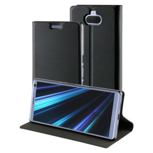This officially licensed standing bookcase in black by Roxfit houses the Sony Xperia 10 within a form-fitting frame, which includes an ultra-high quality protective shell and a super-slim PU front flap. Also comes with a handy horizontal stand function.