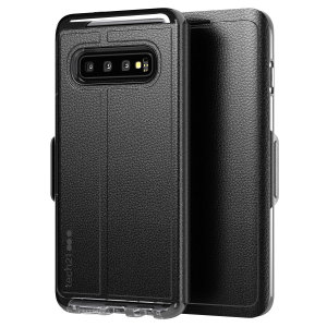 The Evo Wallet case by Tech21 carefully surrounds your Galaxy S10 with a slim-fitting see-through back case and a tactile folio cover. The Evo Wallet case comes with 2 concealed slots for your debit, credit or personal ID cards.