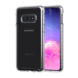 Tech21 Pure Clear case lets you flaunt the natural beauty of your Samsung Galaxy S10e, whilst keeping it well protected from scratches, bumps and drops of up to 10ft. It also offers an ulta-thin and lightweight design, which looks good in any setting.