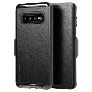 The Evo Wallet case by Tech21 carefully surrounds your Galaxy S10 Plus with a slim-fitting see-through back case and a tactile folio cover. The Evo Wallet case comes with 2 concealed slots for your debit, credit or personal ID cards.