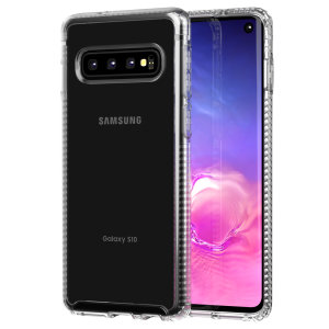 Tech21 Pure Clear case lets you flaunt the natural beauty of your Samsung Galaxy S10, whilst keeping it well protected from scratches, bumps and drops of up to 10ft. It also offers an ulta-thin and lightweight design, which looks good in any setting.