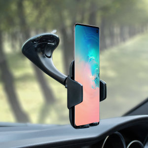 Dock your Galaxy S10 safely in the car with this Genuine Samsung Universal Vehicle Dock and Windscreen Mount, ideal for when you use your S10 as a Sat Nav.
