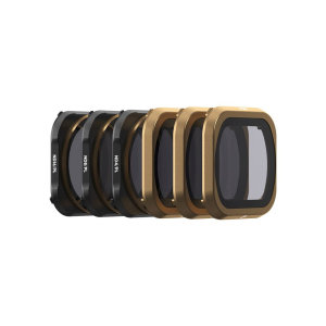 The PolarPro DJI Mavic 2 Pro Shutter Cinema Series Filters contains 6 filters that are designed to control DJI Mavic 2 Pro shutter speed in different lighting conditions.