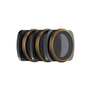 The PolaPro Osmo Pocket Vivid Collection of three fil contains three filters that are designed to control Osmo Pocker's shutter speed in different lighting conditions. Includes ND4/PL, ND8/PL, ND16/PL filters
