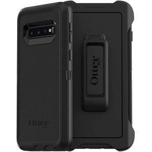 Protect your Samsung Galaxy S10 with the toughest and most protective case on the market - the OtterBox Defender Series Screenless Edition in black.