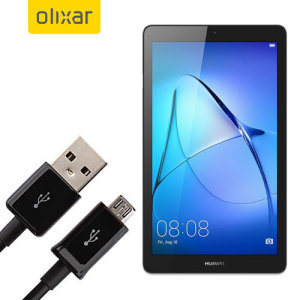 This 1 meter data / charging cable from Olixar allows you to connect your Huawei MediaPad T3 7.0 to a PC via Micro USB. It supports charging currents over 2 amps, so your Huawei MediaPad T3 7.0 can be up and running from flat in no time.