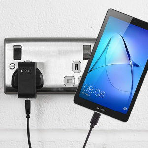 Charge your Huawei MediaPad T3 7.0 quickly and conveniently with this compatible 2.5A high power charging kit. Featuring mains adapter and USB cable.