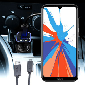 Mantieni il tuo Huawei Y7 Prime 2019 completamente carico sulla strada con questo Caricabatterie da auto compatibile Olixar ad alta potenza doppio USB 3.1A con un cavo di ricarica da USB a Micro-USB di alta qualità incluso.