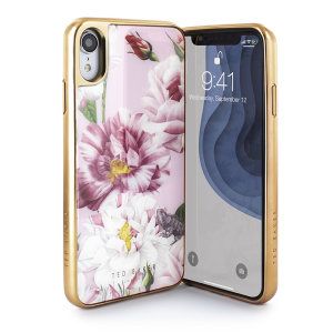 Form-fitting and bulk-free, the case for iPhone XR from Ted Baker sports an ethereal, otherworldly floral aesthetic in blush pink while also offering superlative protection for your device from drops, scrapes and other damage.