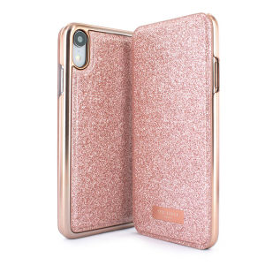 bff9e40dd2e12d Ted Baker Glistey iPhone XR Mirror Folio Case - Rose Gold
