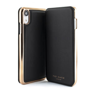 Ever wanted to check how you're looking on the go? With the Shannon Black Ted Baker Folio case for iPhone XR, you can do just that thanks to a concealed mirror on the inside of the case's flip cover. This slimline case also offers excellent protection