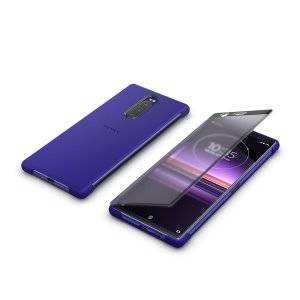 This official Style Cover Touch in Purple from Sony houses your Xperia 1, providing protection and full functionality through the see-through touchscreen font cover, allowing you to view and action incoming messages and calls.